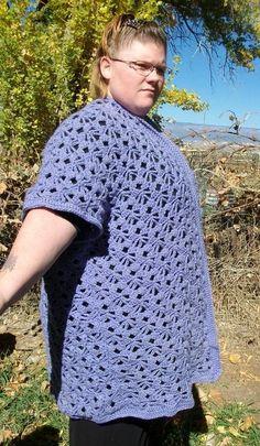 Plus Size Long Lace Crochet Cardigan