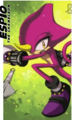 """Espio walked. He herd something In the bushes """"come out I'm warning you!"""" Said Espio. He felt pane in the back of his head he fell on the ground knocked out. It was Scourge and Fiona. Thay took him to there secret base."""