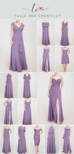 amethyst wedding color ideas with bridesmaid dresses 2021#wedding #weddinginspiration #bridesmaids #bridesmaiddresses #bridalparty #maidofhonor #weddingideas #weddingcolors #tulleandchantilly
