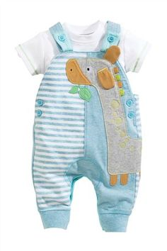 Buy Jersey Giraffe Dungarees from the Next UK online shop Baby Outfits, Toddler Outfits, Kids Outfits, Baby Born Clothes, Trendy Baby Clothes, Toddler Boy Fashion, Little Boy Fashion, New Baby Boys, Baby Kids