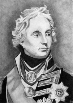 Horatio -Nelson pencil portrait regency