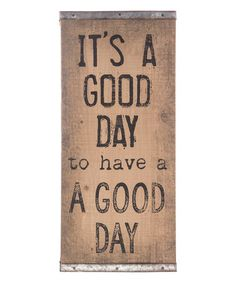 Look what I found on #zulily! 'It's a Good Day' Wood Wall Sign #zulilyfinds