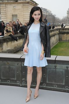Angela Wing Yeung chose to wear Dior at the Ready-to-Wear 2013 Autumn-Winter show. Discover more on www.facebook.com/Dior