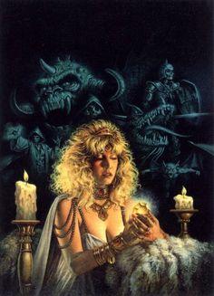 Creative and conceptual ART Clyde Caldwell Dark Fantasy Art, High Fantasy, Fantasy Artwork, Dungeons And Dragons Art, Advanced Dungeons And Dragons, Arte Horror, Horror Art, Heavy Metal, 70s Sci Fi Art