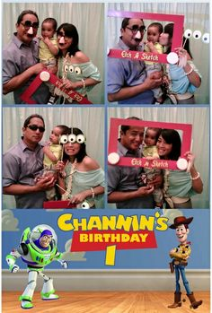 The cuuuutest Toy Story themed party I've ever seen and I LOVE the photo booth props!!!