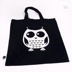 Shops, Diys, Reusable Tote Bags, Owls, Color Black, Weaving, Bags, Cotton, Tents