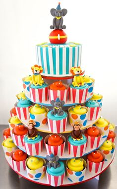 Beautiful Picture of Carnival Birthday Cakes Carnival Birthday Cakes 11 Circus Birthday Cupcakes Photo Circus Birthday Cake And