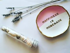 Happiness is homemade - wall hanging - quotes and sayings - room decor - ring dish - gift ideas - gifts for friends - jewelry dish - clay dish - ring holder Hanging Quotes, Friend Jewelry, Wall Decor, Room Decor, Jewelry Dish, Ring Dish, Wall Hanger, Wall Hangings, Gifts For Friends