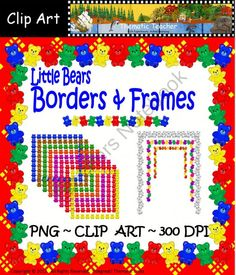 Little Bears Borders and Frames product from ThematicTeacherClipArt on TeachersNotebook.com