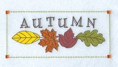 Leafy Autumn - 5x7 | Fall | Machine Embroidery Designs | SWAKembroidery.com Starbird Stock Designs
