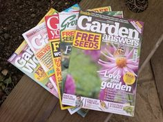 5 favorite garden magazines. What are yours?