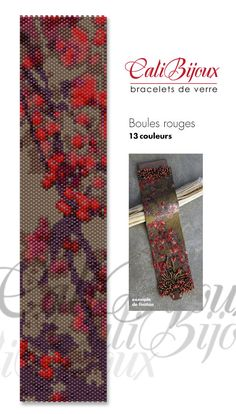 Boules rouges  PATTERN by CALIBIJOUX on Etsy