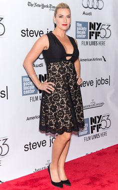Kate Winslet from The Big Picture: Today's Hot Pics  The actress walks the red carpet for a screening of Steve Jobs as part of the 53rd New York Film Festival.