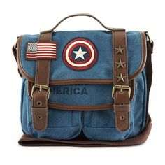 Loungefly Unveils A Handsome Captain America Canvas Messenger Bag