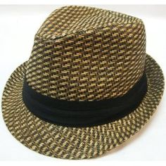 New Men Women Summer Trilby Fedora Bucket Hat Cap Black Stripe Band Paper Straw --- http://www.amazon.com/Summer-Fedora-Cuban-Style-Brown/dp/B008DC2A6O/?tag=hotomamofrh0d-20