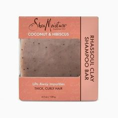Shea Moisture Coconut and Hibiscus Rhassoul Clay Shampoo Bar Best Shampoo Bars, Lipgloss, Moisturizing Shampoo, Best Shampoos, Essential Oil Blends, Shea Butter, Things That Bounce, Moisturizer, Coconut