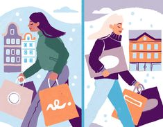 Black Friday designed by Jasmijn Solange Evans for Felic . Connect with them on Dribbble; Flat Illustration, Illustrations, Black Friday Shopping, Saint Charles, Show And Tell, Evans, Disney Characters, Illustration, Illustrators