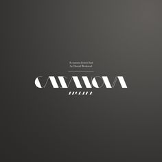 Casanova Typeface  A custom drawn typeface with edgy angles. Some type of sub-title