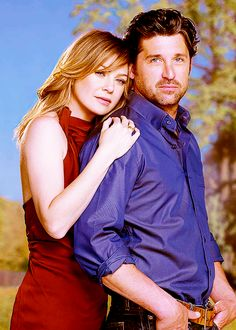 Patrick Dempsey and Ellen Pompeo!!! My all time favorite TV couple.