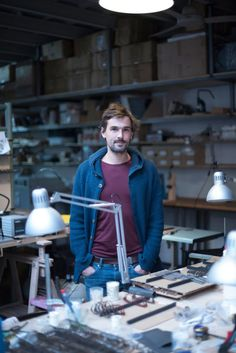 Portrait of Lucas de Stael, who founded his own handmade eyewear company in Paris. Photo by Marianne Dorell. - brought to you by New Press, Marianne, Portrait, Bespoke, Eyewear, Workshop, Artisan, Photos, Paris