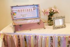 Shabby chic first birthday. Time capsule