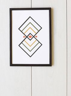 rhombus print by clare nicolson | notonthehighstreet.com