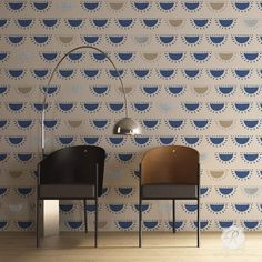 Painting a colorful accent wall with modern wall stencils - Royal Design Studio