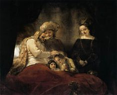 Jacob+Blessing+the+Children+of+Joseph,+1656+-+Rembrandt