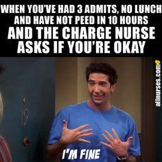 Or at least you try to look fine. Humor Or At Least You Try To Look Fine Hospital Memes, Nursing School Humor, Nursing Career, Funny Nursing, Nurse Jokes, Psych Nurse, Nurse Aesthetic, Oncology Nursing, Pediatric Nursing