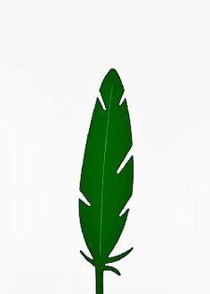 Feeling Tropical - Διακοσμητικό φτερό PVC Πράσινο σκούρο 42x10cm Plant Leaves, Plants, Plant, Planets