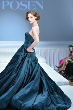 "On the runway at the ""Suzanne Rogers Presents Zac Posen"" event. [Photo by George Pimentel/Courtesy of Zac Posen]"