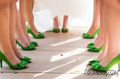 Bride & Bridesmaids Lime Green Shoes