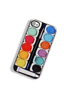 I want this!  iPhone Case Watercolor Paint Set  iPhone Hard by TheCuriousCaseLLC, $18.00