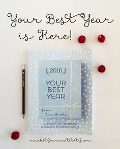 Your Best Year 2016: Productivity Workbook and Creative Business Planner boasts a *revolutionary* goal-setting system, countless worksheets, AND flexible long-term creative business planning. BEST planner on the market!