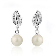 Crown Stefana Store - Elegant Pearl Drop Earrings, €22.00 (http://www.crownstefana.com/elegant-pearl-drop-earrings/)