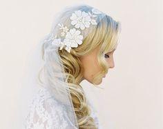 Juliet Cap Veil, Cathedral Lace Veil, Fingertip Lace Veil, Soft Wedding Veil Lace Juliet Veil Juliet Veil Bridal Veils Fingertip Length 1516