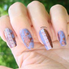 studs nail art design