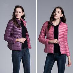 New 2017 Winter jacket Women Two Side 90% White Duck Down Jacket Women Coat Ultra Light Down Warm Jackets UHLULC