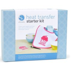 This kit contains heat transfer material and other supplies needed to get started with your first heat transfer project. Let your creativity bloom while you create custom apparel, home decor and more with this versatile heat transfer starter kit.