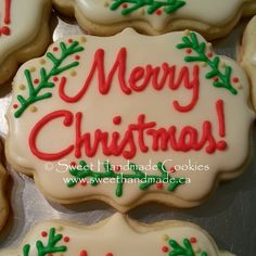 Sweet Handmade Cookies - merry christmas cookies