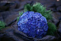cobalt blue bridal bouquet