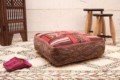 Moroccan Cushion KILIM PILLOW COVER Ottoman by Beniouraincarpets
