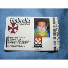 Resident Evil Umbrella Corporation UBCS ID Card From the Identity Props Store
