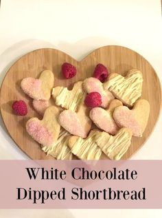 These white chocolate dipped shortbread biscuits are absolutely delicious and so simple to make.  They would make a great gift too!