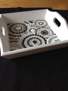 bandeja de mosaico blanco de decoración del por CapolavoriDiMosaico                                                                                                                                                                                 Más