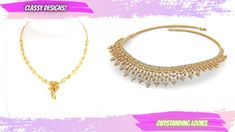 Alluring Gold Diamond Necklace | Simple Elegant Gold Pendant Necklaces t... Diamond Necklace Simple, Gold Pendant Necklace, Latest Gold Jewellery, Gold Jewelry, That Look, Classy, Necklaces, Elegant, Awesome