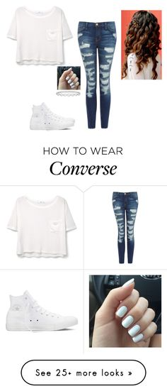 """""""Untitled #1908"""" by hannahmcpherson12 on Polyvore featuring MANGO, Current/Elliott, Converse and Epoque"""