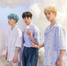 Suga, Jin and Jimin from BTS