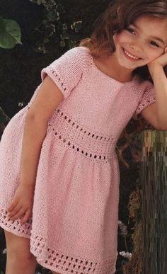 Knitting dresses for girls spokes