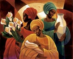 Caress-Keith Mallett, print, open edition print, african american artist, figurative